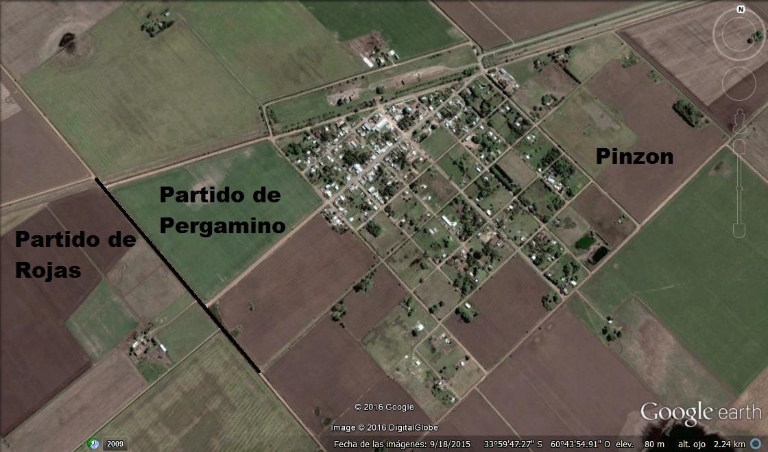 PINZON PDO PERGAMINO - PARTIDO DE ROJAS AREA RURAL CARABELAS