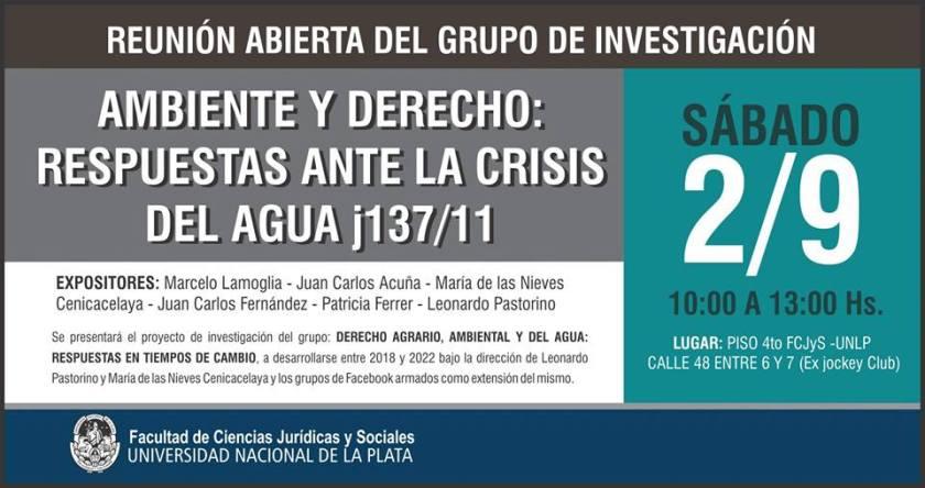 SEMINARIO AMBIENTE Y DERECHO UNLP-JURSOC 2SET2017 AFICHE
