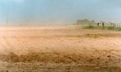 La erosión eólica provoca estragos